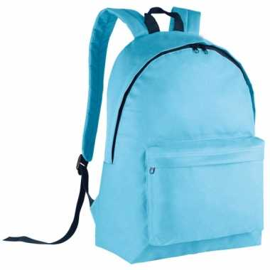 Lichtblauwe gymtas rugzak voor kids 38 cm