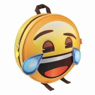 Lol emoticon gymtas huilen van het lachen voor volwassenen