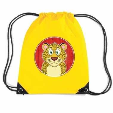 Luipaarden gymtas / gymtas geel voor kinderen