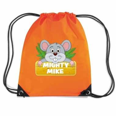 Mighty mike de muis gymtas / gymtas oranje voor kinderen