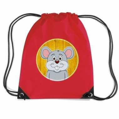 Muizen gymtas / gymtas rood voor kinderen