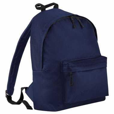 Navy blauw gymtas rugzak voor kinderen