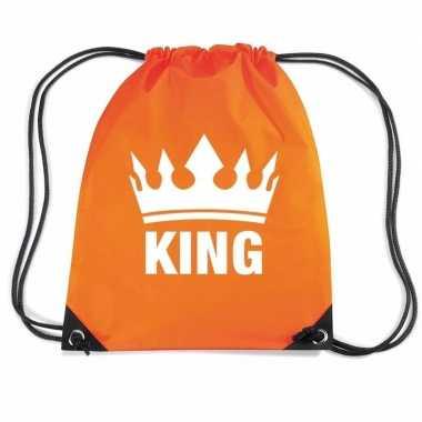 Oranje gymtas met rijgkoord king