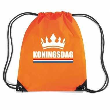 Oranje gymtas met rijgkoord koningsdag