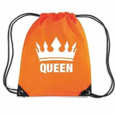 Oranje gymtas met rijgkoord queen