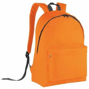 Oranje gymtas rugzak voor kids 38 cm