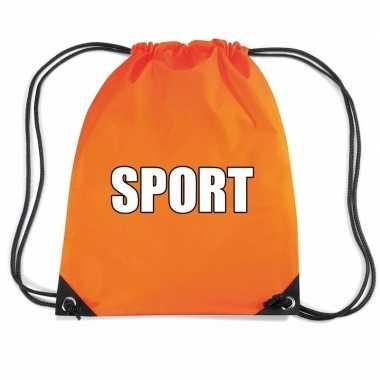 Oranje sport gymtas/ gymtasje kinderen