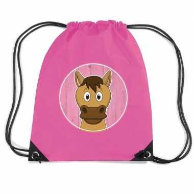 Paarden gymtas / gymtas voor kinderen