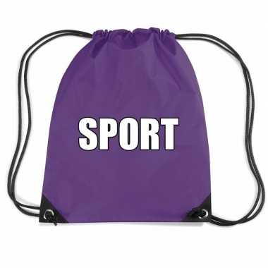 Paars sport gymtas/ gymtasje kinderen
