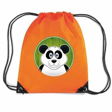 Panda gymtas / gymtas oranje voor kinderen