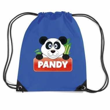 Pandy de panda gymtas / gymtas blauw voor kinderen