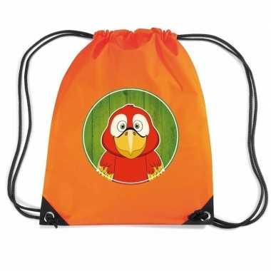 Papegaaien gymtas / gymtas oranje voor kinderen