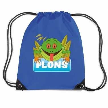 Plons de kikker gymtas / gymtas blauw voor kinderen
