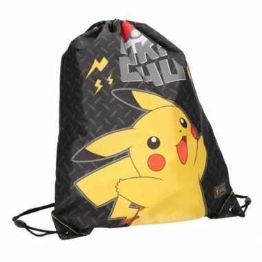 Pokemon/pikachu gymtas/zwemtasje met rijgkoord