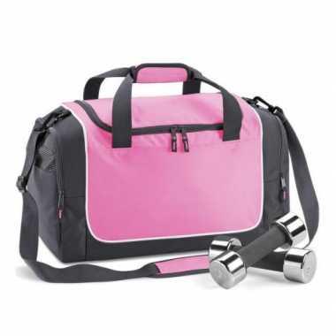 Quadra gymtassen roze met zwart