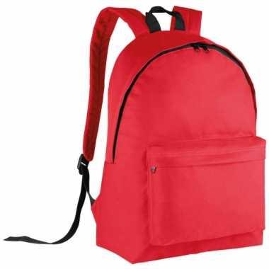 Rode gymtas rugzak voor kids 38 cm