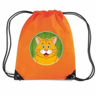 Rode katten / poes gymtas / gymtas oranje voor kinderen