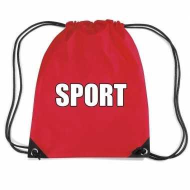 Rood sport gymtas/ gymtasje kinderen