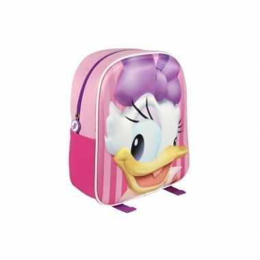 Roze 3d katrien duck gymtas