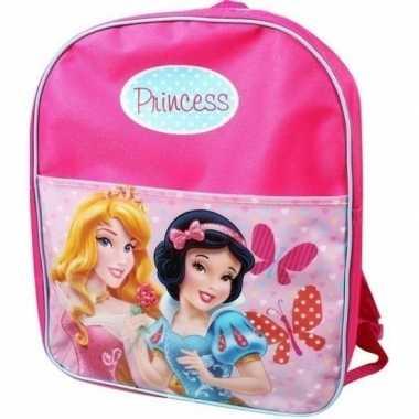 Roze disney princess gymtassen doornroosje en sneeuwwitje
