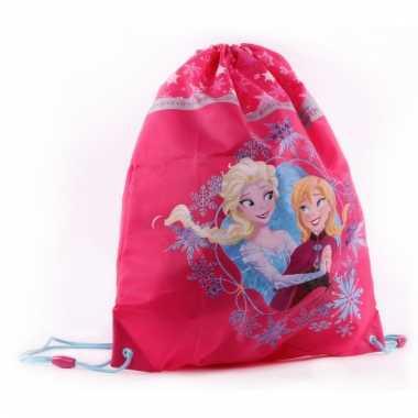 Roze frozen gymtasjes voor meisjes