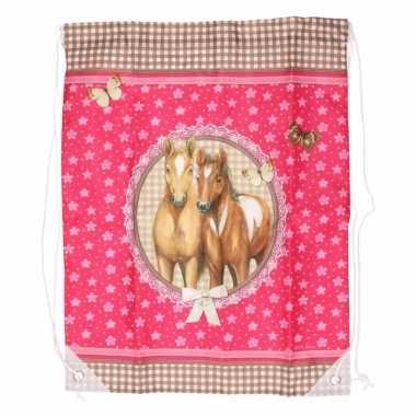 Roze gymtas paarden type 3