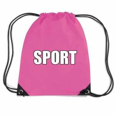 Roze sport gymtas/ gymtasje kinderen