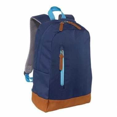 Rugzak/gymtas donkerblauw 45 cm