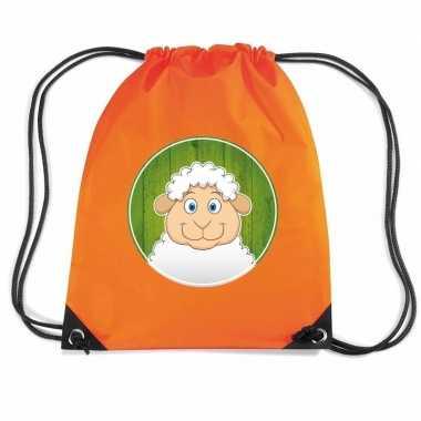 Schapen gymtas / gymtas oranje voor kinderen