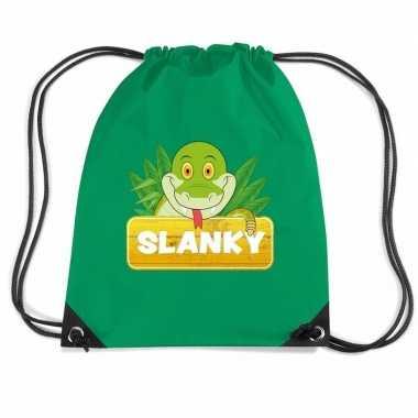 Slanky de slang gymtas / gymtas groen voor kinderen
