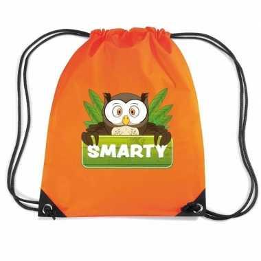 Smarty de uil gymtas / gymtas oranje voor kinderen