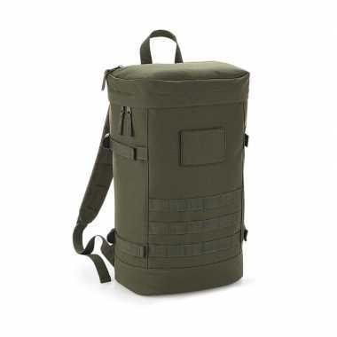 Stevige gymtas/rugzak leger groen 21 liter