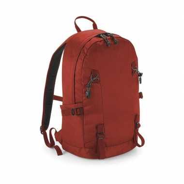 Stevige gymtas/rugzak rood 20 liter