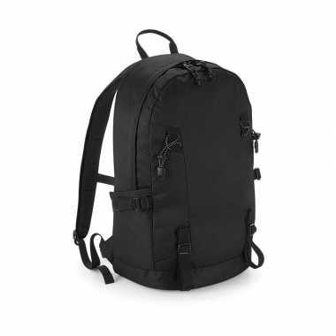 Stevige gymtas/rugzak zwart 20 liter