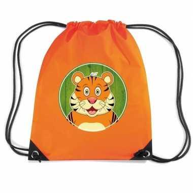 Tijgers gymtas / gymtas oranje voor kinderen