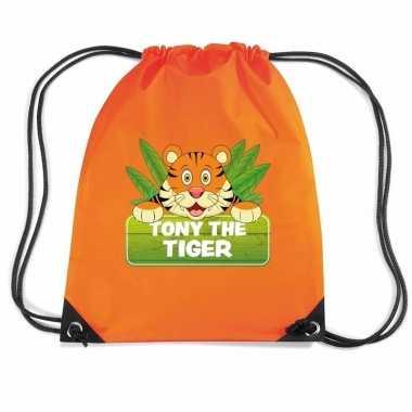 Tony the tiger tijger gymtas / gymtas oranje voor kinderen
