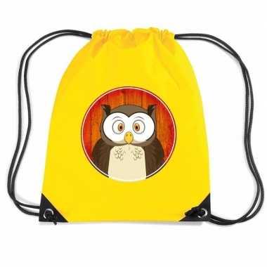 Uilen gymtas / gymtas geel voor kinderen