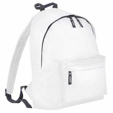 Wit / grijs gymtas rugzak voor kinderen