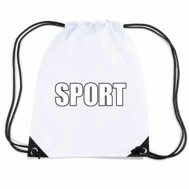 Wit sport gymtas/ gymtasje kinderen