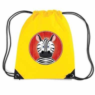 Zebra gymtas / gymtas geel voor kinderen