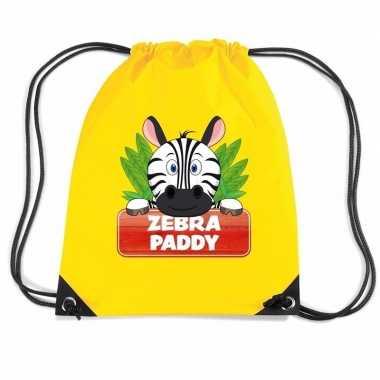 Zebra paddy gymtas / gymtas geel voor kinderen