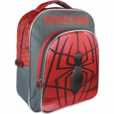 Zwart/rode marvel spiderman rugzakken/gymtassen 30 x 41 cm reistas vo