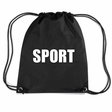 Zwart sport gymtas/ gymtasje kinderen
