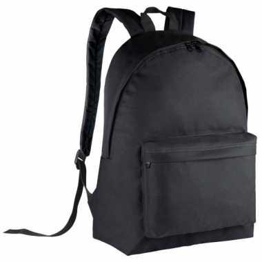 Zwarte gymtas rugzak voor kids 38 cm