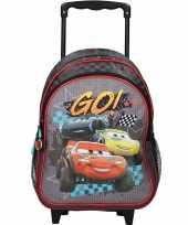 Disney cars zwarte trolley reiskoffer gymtas voor kinderen