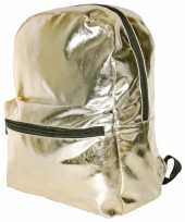 Gouden rugzak gymtas 43 cm voor meisjes