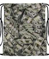 Gymtas met bankbiljetten print