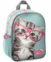 Katten poezen school gymtas rugzak 28 cm voor peuters kleuters kinderen
