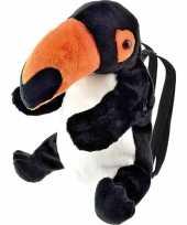 Knuffel rugzakje gymtas toekan vogels 32 cm knuffels kopen