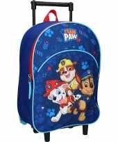 Paw patrol blauwe trolley reiskoffer gymtas voor kinderen